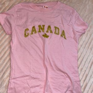 Pink Canada tight tshirt